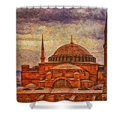 Hagia Sophia Digital Painting Shower Curtain