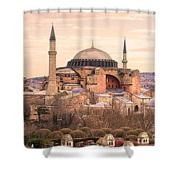 Hagia Sophia Mosque - Istanbul Shower Curtain by Luciano Mortula