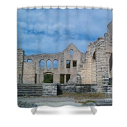 Shower Curtain featuring the photograph Haha Tonka Castle 1 by Sara  Raber