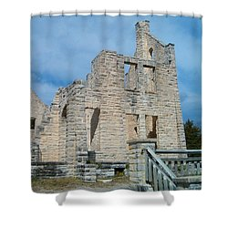 Shower Curtain featuring the photograph Haha Tonka Castle 2 by Sara  Raber