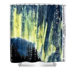 Shower Curtain featuring the photograph Haiga Poster Haiku Canada Conference  by Peter v Quenter