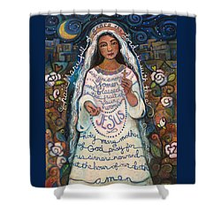 Hail Mary Shower Curtain