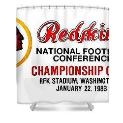 Hail To The Redskins Shower Curtain
