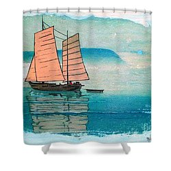 Haiphong Harbor Shower Curtain by Pg Reproductions