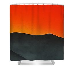 Hakarimata Sunset Shower Curtain