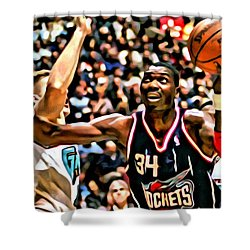 Hakeem Olajuwon Shower Curtain