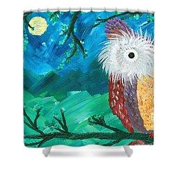 Half-a-hoot 01 Shower Curtain