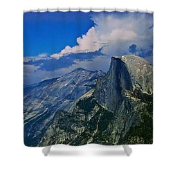 Half Dome From Glacier Point Shower Curtain by Eric Tressler