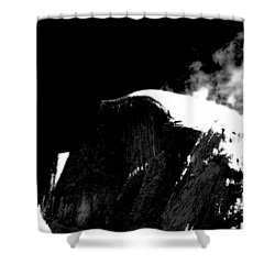 Half Dome In Winter Bw Shower Curtain