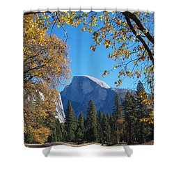 Half Dome In Yosemite Shower Curtain by Alex Cassels