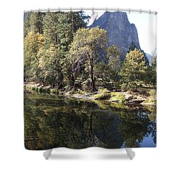 Shower Curtain featuring the photograph Half Dome Reflection by Richard Reeve