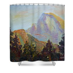 Half Dome View Shower Curtain by Carolyn Jarvis