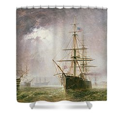 Half Mast High 19th Century Shower Curtain by  Robert  Dudley
