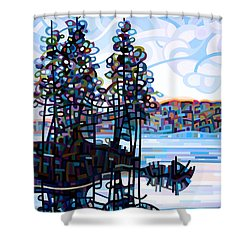 Haliburton Morning Shower Curtain by Mandy Budan