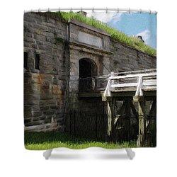 Halifax Citadel Shower Curtain by Jeff Kolker