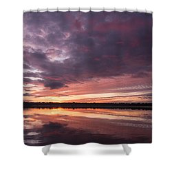 Halifax River Sunset Shower Curtain by Paul Rebmann