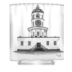 Halifax Town Clock Shower Curtain by Patricia Hiltz
