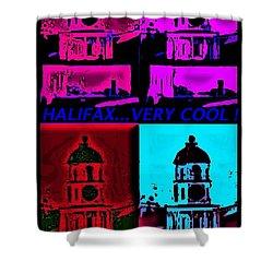 Halifax Very Cool Pop Art Shower Curtain by John Malone