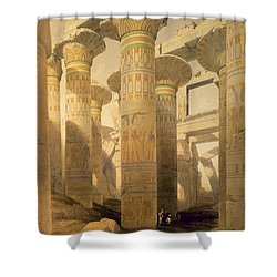 Hall Of Columns, Karnak, From Egypt Shower Curtain by David Roberts