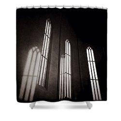 Hallgrimskirkja Windows Shower Curtain