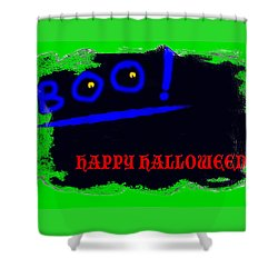 Halloween Boo Shower Curtain