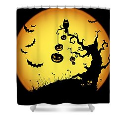 Halloween Haunted Tree Shower Curtain by Gianfranco Weiss