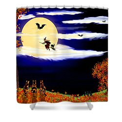 Halloween Night Shower Curtain