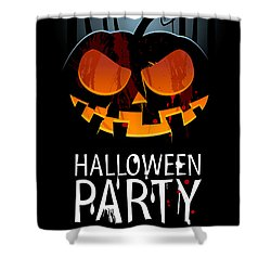 Shower Curtain featuring the painting Halloween Party by Gianfranco Weiss