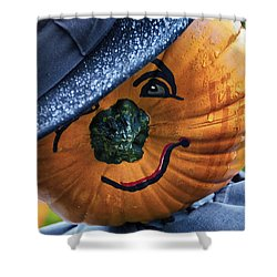 Halloween Pumpkin 02 Shower Curtain by Thomas Woolworth