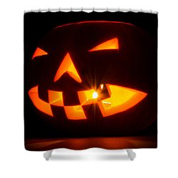 Halloween - Smiling Jack O' Lantern Shower Curtain