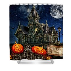 Halloween Spot Shower Curtain by Mo T