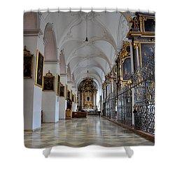 Hallway Of A Church Munich Germany Shower Curtain by Imran Ahmed