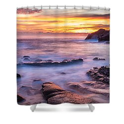 Halona Cove Sunrise 3 Shower Curtain