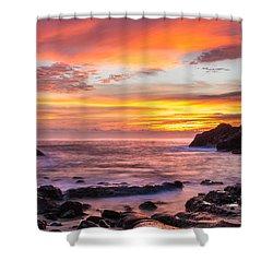 Halona Cove Sunrise 4 Shower Curtain