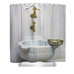 Hamam Marble Sink In Istanbul Shower Curtain
