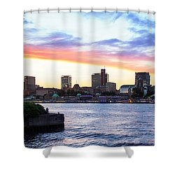 Hamburg Riverside Shower Curtain