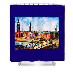 Hamburg - The Beauty At The River Shower Curtain