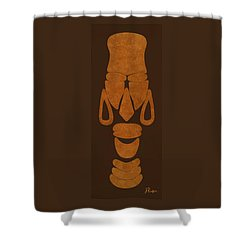 Hamite Female Shower Curtain