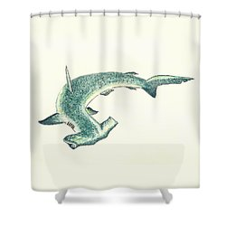 Hammerhead Shark Shower Curtain by Michael Vigliotti