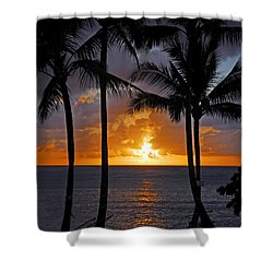 Hammock Sunset Shower Curtain by Lynn Bauer