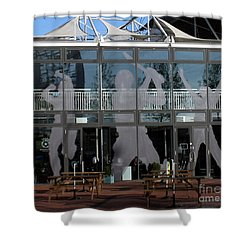 Hampshire County Cricket Glass Pavilion Shower Curtain by Terri Waters
