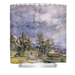 Hampstead Heath From Near Well Walk Shower Curtain by John Constable