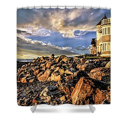 Hampton Beach Sunrise Shower Curtain