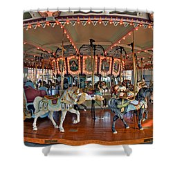 Hampton Carousel 2 Shower Curtain