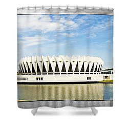 Hampton Coliseum Shower Curtain