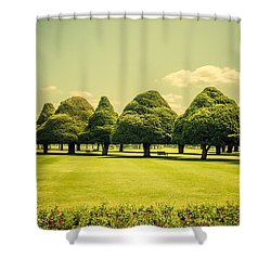 Hampton Court Palace Gardens Summer Colours Shower Curtain