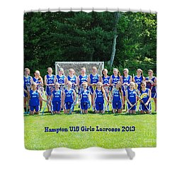Hampton U15 Girls 2013 Shower Curtain