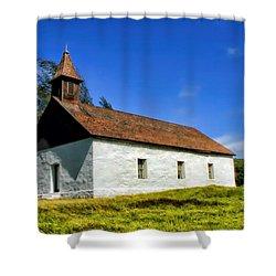 Shower Curtain featuring the photograph Hana Church 1 by Dawn Eshelman