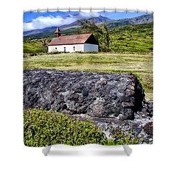 Shower Curtain featuring the photograph Hana Church 3 by Dawn Eshelman