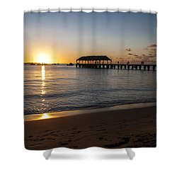Hanalei Bay Sunset Shower Curtain by Brian Harig